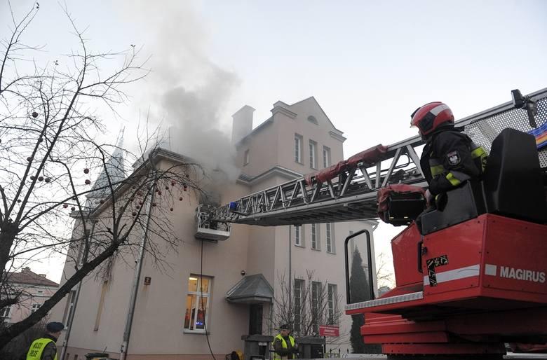 W poniedziałek straż pożarna została powiadomiona o pożarze w budynku przy ul. Drużbackiej w Przemyślu.