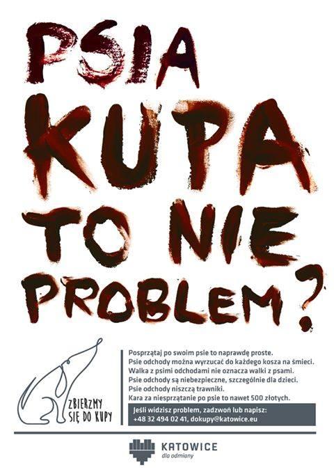 Plakat promocyjny akcji walki z psimi kupami