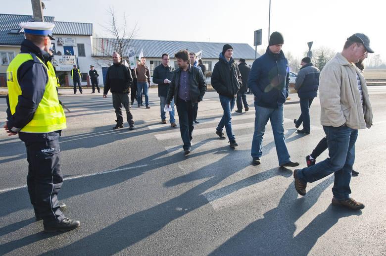 Rolnicy znowu blokowali Koszalin