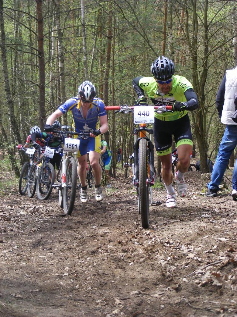 Podjazd pod Dziewiczą Górę to najważniejszy punkt goślińskiego maratonu rowerowego