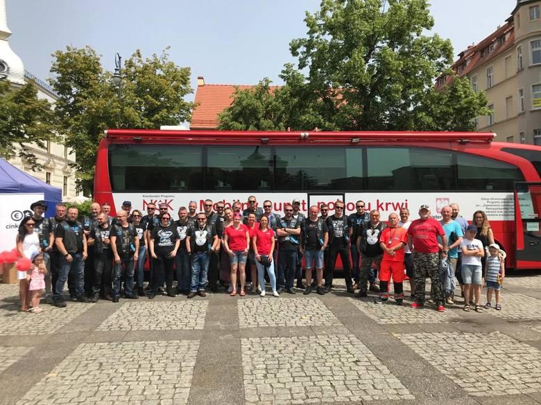 Motocykliści z Nine Six MC Poland oddział Zielona Góra, dziękują za udział w akcji! Zbiórka krwi pod hasłem MOTO KREW odbyła się 15 czerwca na pl. Bohaterów.