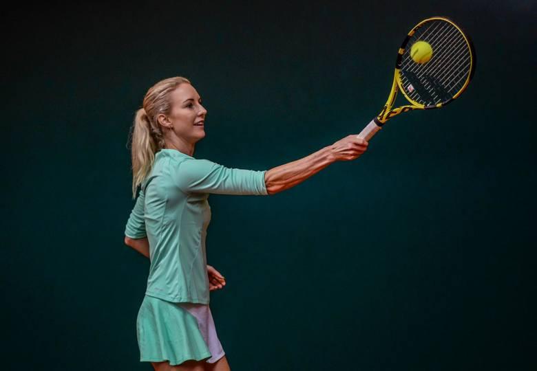 Urszula Radwańska na korcie Gdańskiej Akademii Tenisowej