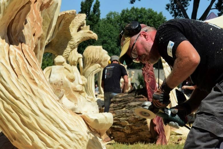 22 artystów - rzeźbiarzy z Białorusi, Czech, Niemiec, Ukrainy oraz Polski, bierze udział w V Międzynarodowych Mistrzostwach Polski w Rzeźbieniu w Drewnie.
