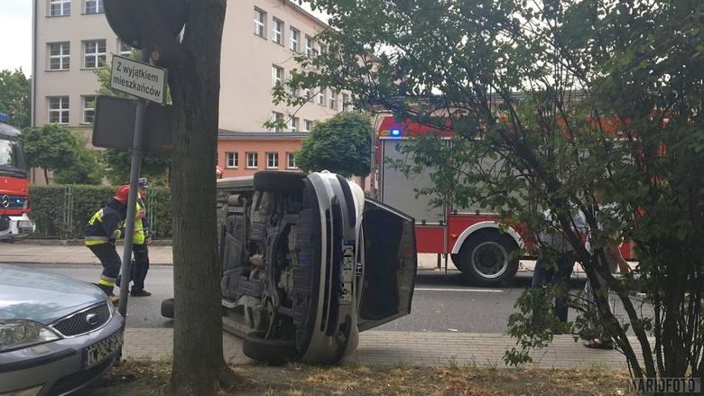Do zderzenia doszło we wtorek na skrzyżowaniu ul. Rejtana i 1 Maja w Opolu.