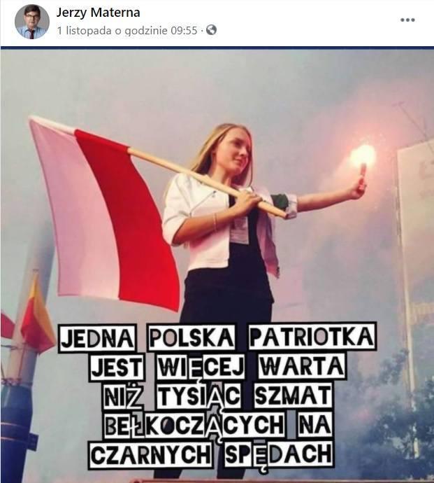 Wpis posła Jerzego Materny z PiS