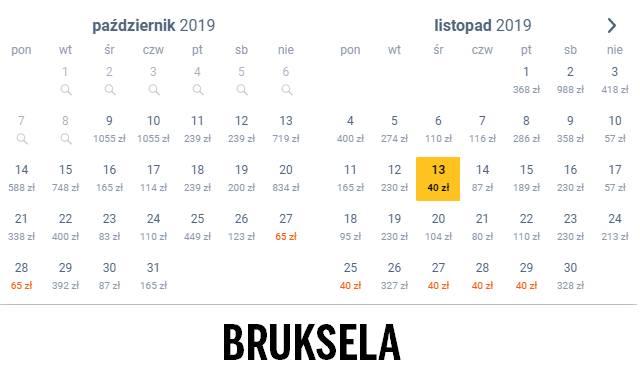 BrukselaW październiku do belgijskiego miasta polecimy za 65 złotych, a w listopadzie za jedyne 40 złotych!