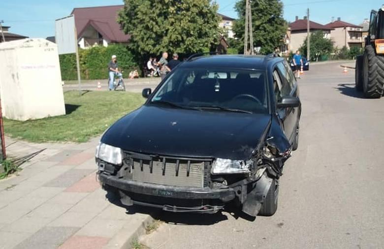 W czwartek, po godz. 15, w Knyszynie doszło do wypadku.