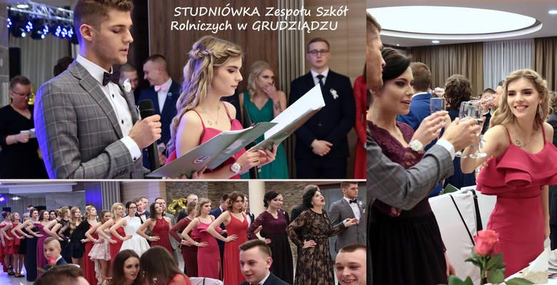 W pięknej sali hotelu Rudnik odbył się bal studniówkowy maturzystów z Zespołu Szkół Rolniczych im. Władysława Grabskiego w Grudziądzu. Tost, życzenia