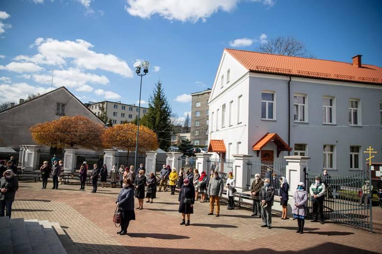 20-04-2020 Cerkiew św. Mikołaja w Białymstoku. Liturgia w  drugi dzień Świąt Wielkiej Nocy