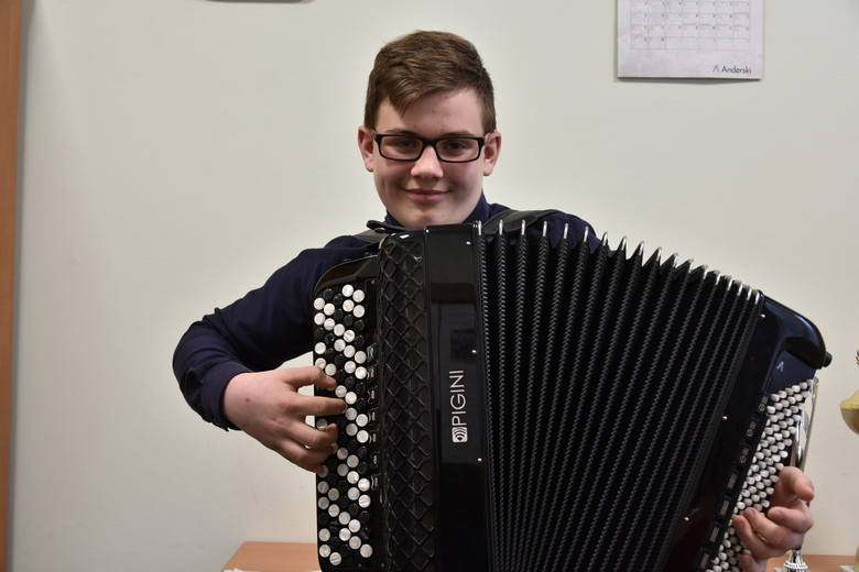 Kacper Wąs kończy podstawową szkołę muzyczną. Dalej będzie się szkolił również w Gorlicach