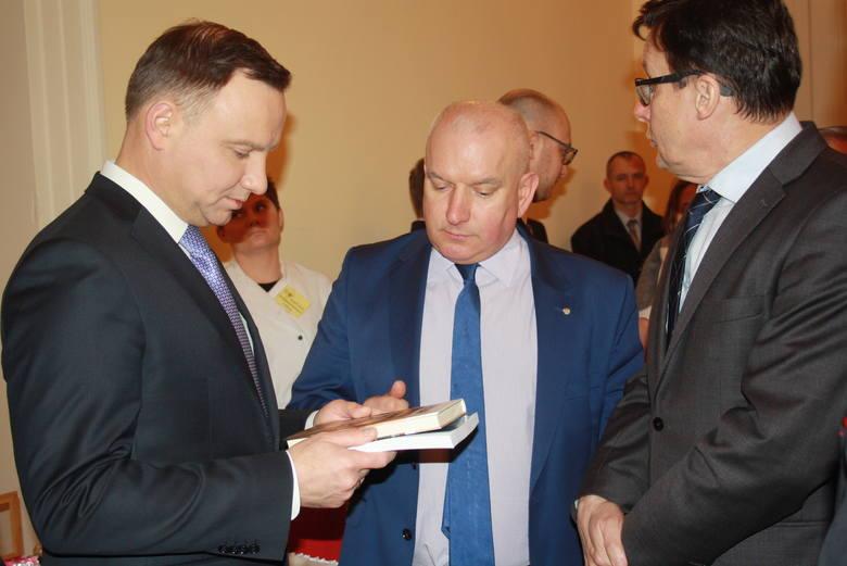 Prezydent Andrzej Duda był bardzo zainteresowany tematem wydarzeń z 1960 roku.