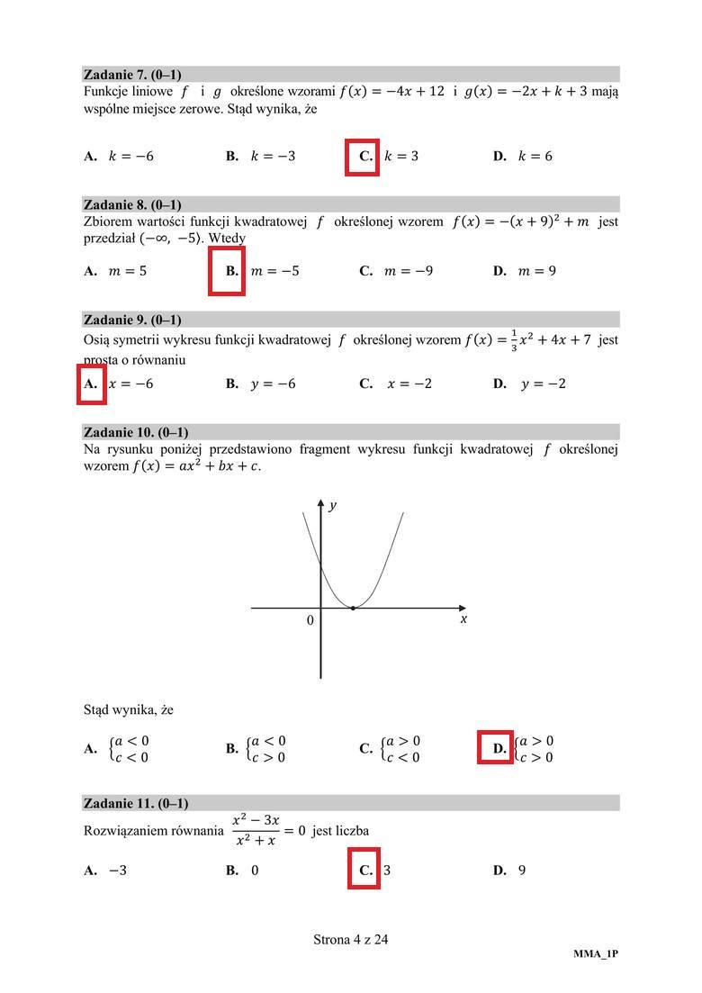 Matura poprawkowa matematyka 2020. ARKUSZ CKE, ODPOWIEDZI, ROZWIĄZANIA ZADAŃ. To pojawiło się na egzaminie z matematyki 8.09.2020!