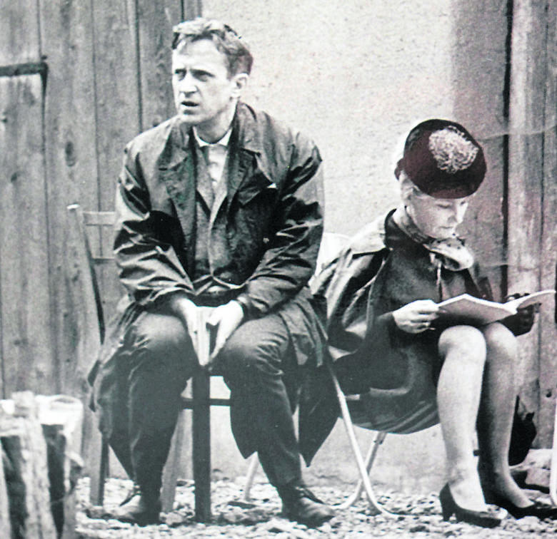 Konstanty Lewkowicz na planie filmowym
