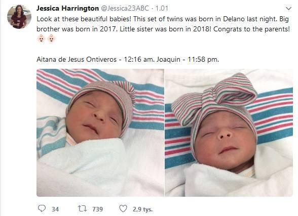 Wyjątkowe bliźniaki – urodziły się w różnych latach