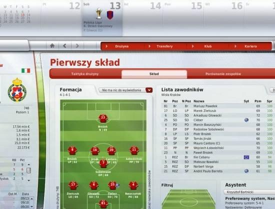 Poprowadź drużynę w FIFA Manager 09