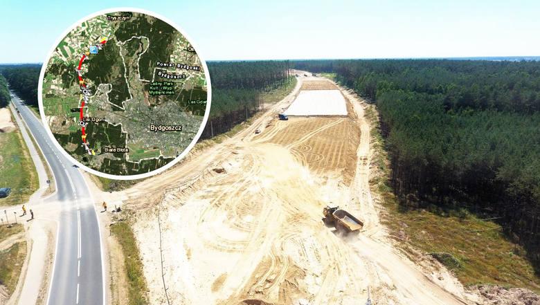 """Trwa budowa trasy S5 w regionie. Odcinek od węzła """"Tryszczyn"""" do węzła """"Białe Błota"""" stanowić będzie jednocześnie północno-zachodnią obwodnicę Bydgoszczy.Zaglądamy"""