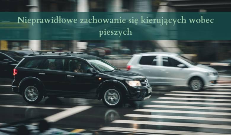 Nieprawidłowe zachowanie się kierujących wobec pieszych 10 punktów karnych: - Omijanie pojazdu, który jechał w tym samym kierunku, lecz zatrzymał się