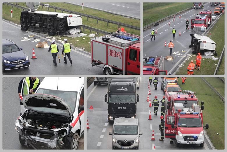 Do wypadku doszło na 196 km na węźle Pikutkowo w powiecie włocławskim na autostradzie A1.Jak informuje straż, zderzyły się trzy samochody. Ranne zostało