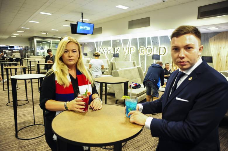 Prezes TS Wisła i Wisła SA Marzena Sarapata i członek zarządu TS Wisła Damian Dukat