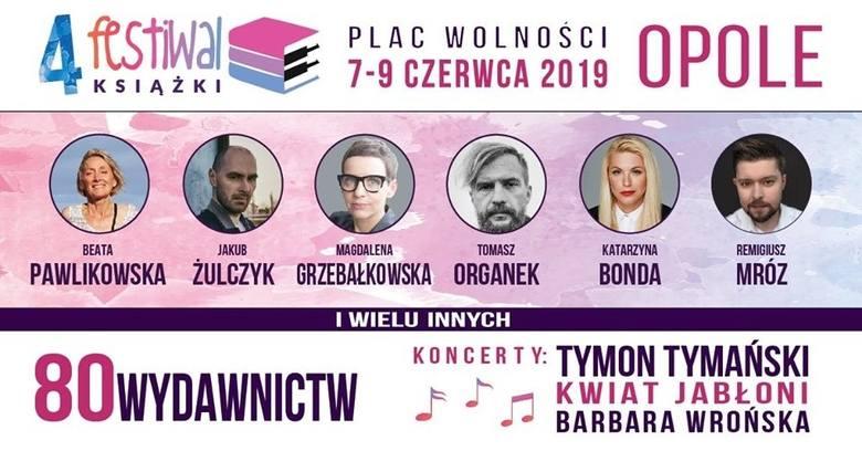 Festiwal Książki 2019 Festiwal Książki 2019 - KONCERTYFestiwal Książki Opole to jedyny w Polsce festiwal literacki, który promuje czytelnictwo poprzez