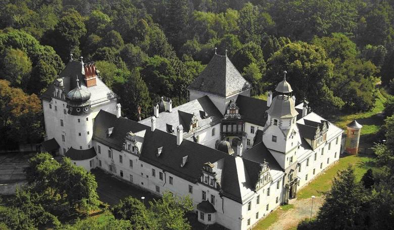 Zamek w Dąbrowie.Inicjatorem przedsięwzięcia jest Fundacja na rzecz Zamku Książęcego Niemodlin 1313. Wydanie broszury wsparł finansowo marszałek województwa