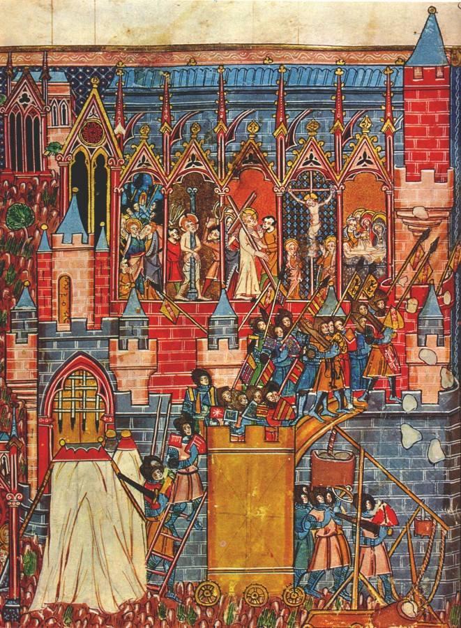 Zdobycie Jerozolimy w 1099 r. (średniowieczny manuskrypt)