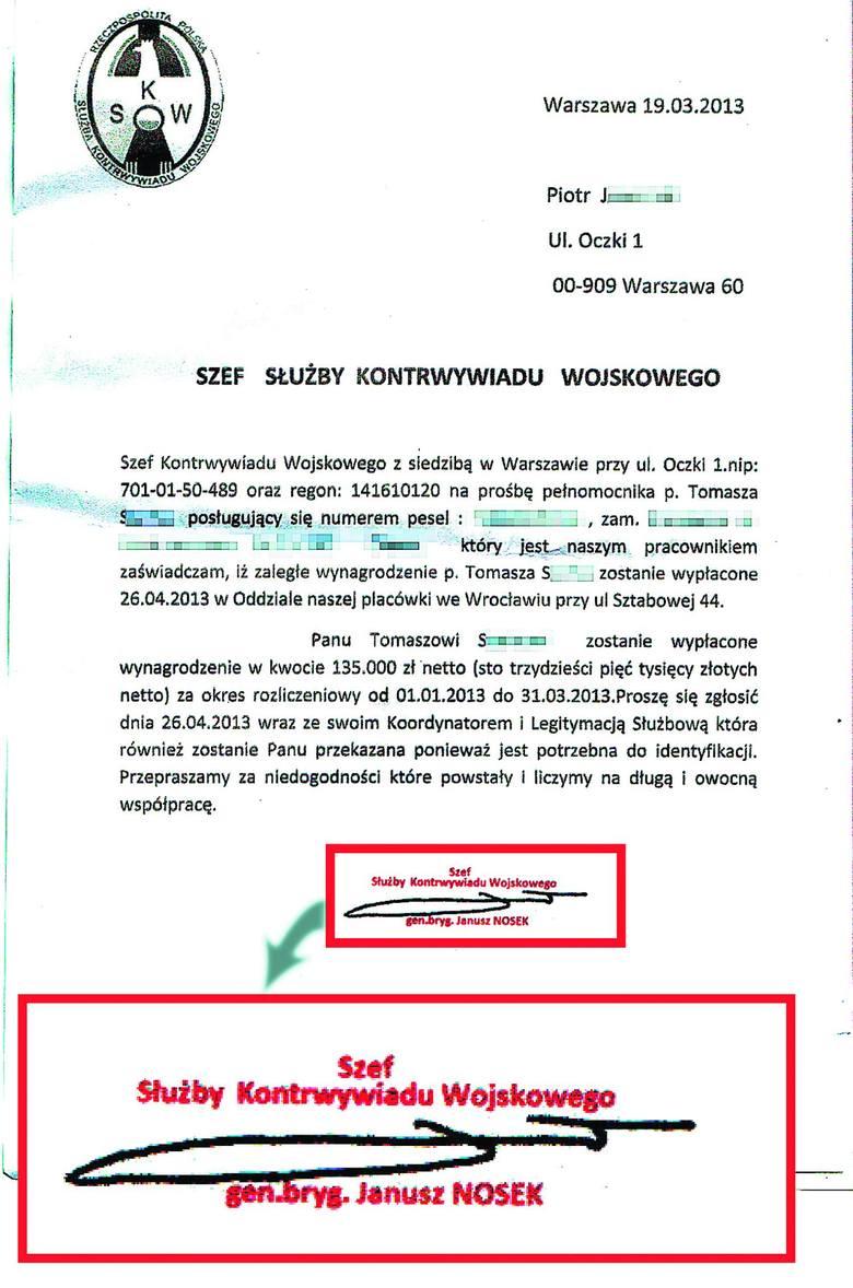 We Wrocławiu leży pieczątka Szefa Służby Kontrwywiadu