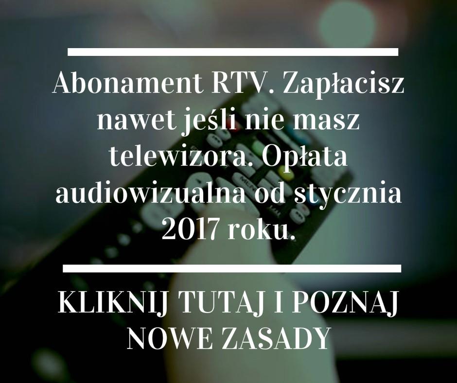 abonament rtv nowa opłata audiowizualna