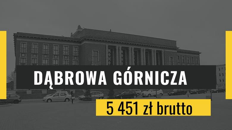 Miejsce 9: Dąbrowa GórniczaPrzeciętne miesięczne wynagrodzenie brutto: 5 451 zł