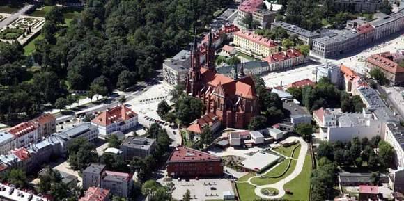 Centrum Białegostoku z lotu ptaka.