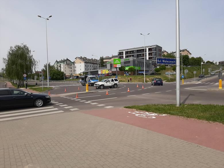 Potrącenie rowerzysty na ul. Węglarza w Lublinie. Kierowca samochodu nie ustąpił pierwszeństwa
