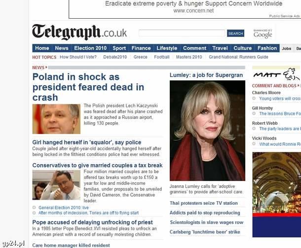 Światowe media o katastrofie w Smoleńsku. Relacje z całego świata