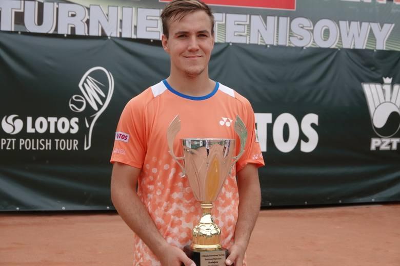 Daniel Michalski, finalista tenisowego Bydgoszcz Solano Centrum Cup.