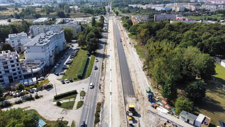 Fragment rozbudowywanej ulicy Walczaka w Gorzowie ma już nowy asfalt!