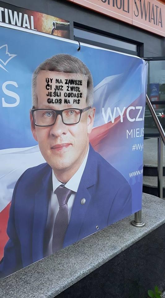 Baner Waldemara Wyczachowskiego, kandydata PiS, okręg piotrkowski