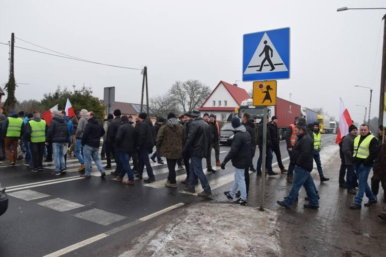 Protest rolników w Rychnowach na dk nr 22  [28.01.2019]