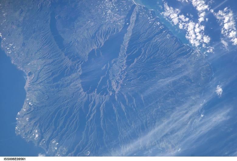 Cumbre Vieja widziana okiem satelity