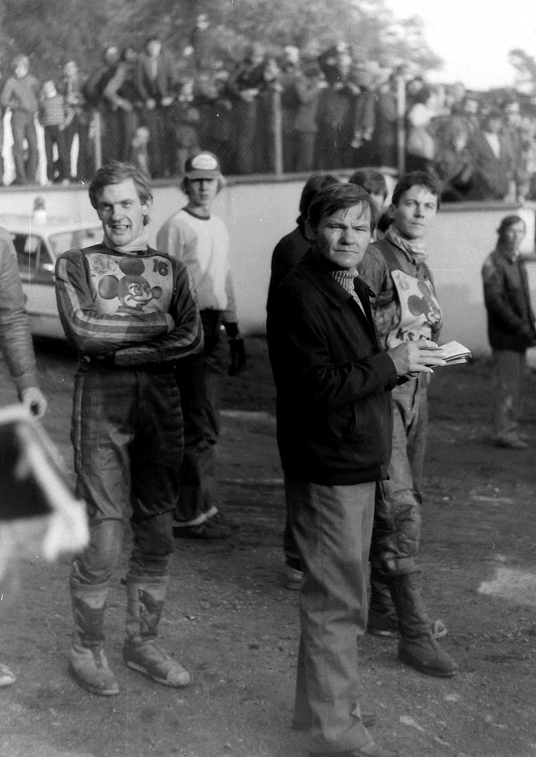 Jarosław Glinka, trener Stanisław Sochacki i Wiesław Pawlak.- Prawie 40 lat temu, w 1981 roku, żużlowcy Falubazu Zielona Góra po raz pierwszy sięgnęli