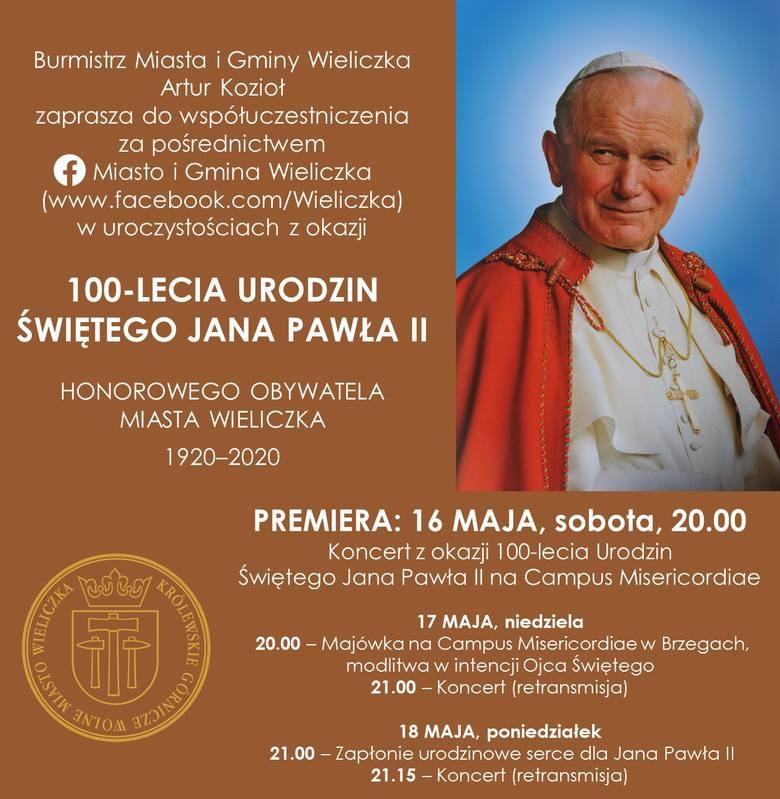 """""""Wdzięczna Wieliczka"""". Wyjątkowy koncert z  okazji 100. rocznicy urodzin Jana Pawła II"""