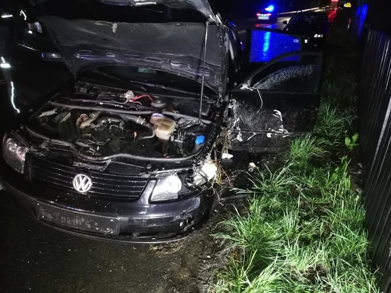 Wypadek na drodze krajowej nr 8 w miejscowości Poświętne