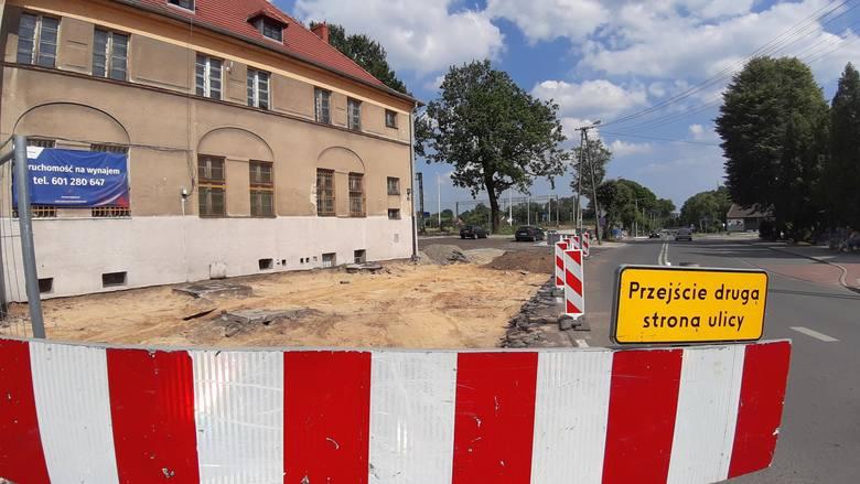 Centrum przesiadkowe w Oleśnie w budowie.