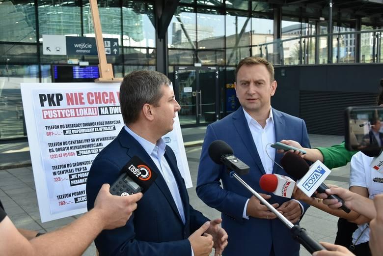 Łódź Fabryczna nieprzyjazna dla przedsiębiorców. Samorządowcy obwiniają PKP i... PiS