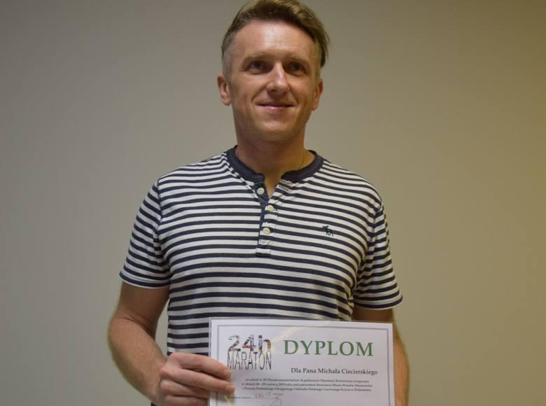 Ostrołęka. Michał Ciecierski w ultramaratonie kolarskim. Prawie 700 km w dobę - kolejny sukces i wyczyn ostrołęczanina