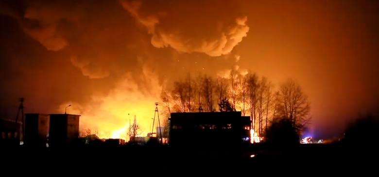 Wielki pożar składowiska opon w Sernikach w powiecie lubartowskim