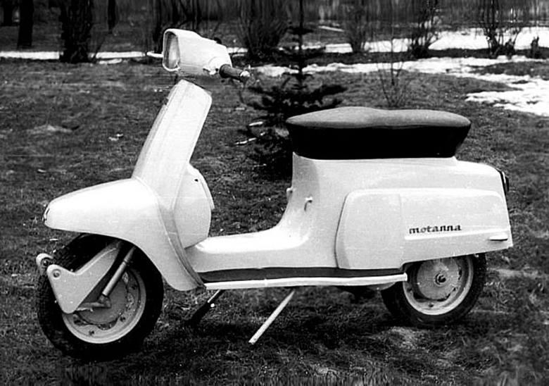 Ostatni polski skuter: prototyp M 57 Motanna z nadwoziem projektu prof. Cezarego Nawrota. Widać inspirację Lambrettą TV 175