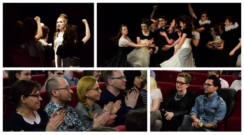 """Inowrocławski Teatr Otwarty wystawił spektakl """"Świecie nasz czarno-biały"""" w reżyserii Elżbiety Piniewskiej.Teatr Miejski w Inowrocławiu"""