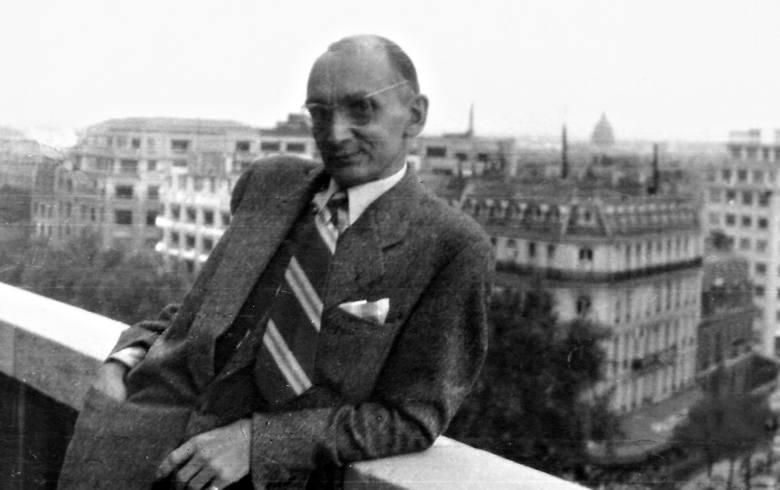 Władysław Pobóg-Malinowski w Paryżu, rok 1957.  Ze zb. dr. Andrzeja Ruszczaka z Gdańska