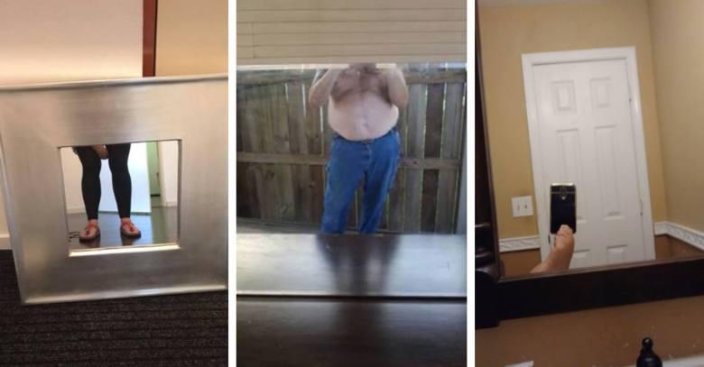 Jak zrobić dobre zdjęcie lustra? Okazuje się, że to nie takie proste! ZOBACZ najśmieszniejsze zdjęcia luster na sprzedaż!
