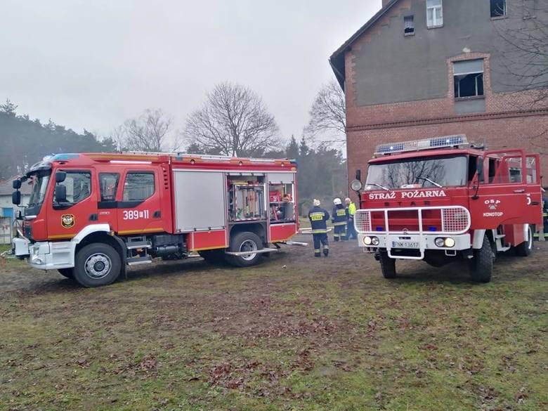 Pożar w budynku wielorodzinnym w Konotopie, w gm. Kolsko, 23 grudnia 2019 r.
