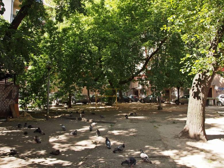 Podwórko przy ul. Szewskiej obecnie